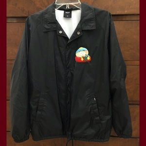 Men's HUF South Park wind breaker jacket M EUC